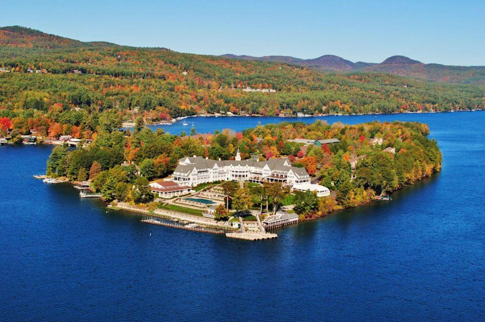 """<p> Holding court for over a century on picturesque Lake George in the Adirondacks, the 137-year old <a href=""""http://www.thesagamore.com"""" rel=""""nofollow noopener"""" target=""""_blank"""" data-ylk=""""slk:Sagamore Resort"""" class=""""link rapid-noclick-resp"""">Sagamore Resort</a> offers guests an 18-hole golf course, hiking, tennis, and spa. So rather than spending an entire day in the kitchen, you can partake in one of the many activities available at the hotel (there is also a well-equipped rec center to keep the kids occupied) before indulging in a Thanksgiving feast. </p><p><a class=""""link rapid-noclick-resp"""" href=""""https://go.redirectingat.com?id=74968X1596630&url=https%3A%2F%2Fwww.tripadvisor.com%2FHotel_Review-s1-g47339-d93107-Reviews-The_Sagamore_Resort-Bolton_Landing_New_York.html&sref=https%3A%2F%2Fwww.redbookmag.com%2Flife%2Fg34586101%2Fplaces-to-spend-thanksgiving%2F"""" rel=""""nofollow noopener"""" target=""""_blank"""" data-ylk=""""slk:Read Reviews"""">Read Reviews</a></p><p><strong>More</strong>: <a href=""""https://www.townandcountrymag.com/leisure/travel-guide/g12141513/best-places-to-visit-in-november/"""" rel=""""nofollow noopener"""" target=""""_blank"""" data-ylk=""""slk:The Top Places to Travel in November 2020"""" class=""""link rapid-noclick-resp"""">The Top Places to Travel in November 2020</a><br></p>"""