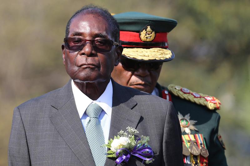 Zimbabwean President Robert Mugabe in August this year, before the political unrest of last week: EPA