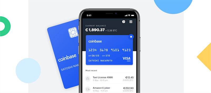 Coinbase is rolling out its swankly debit card in more countries across Europe. | Source: Coinbase