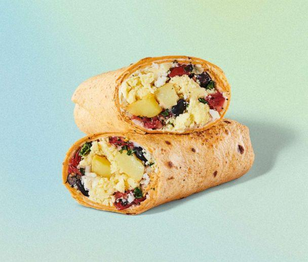 PHOTO: Starbucks' new Southwest veggie wrap is made with eggs, black beans, cotija cheese, potatoes and salsa. (Starbucks)