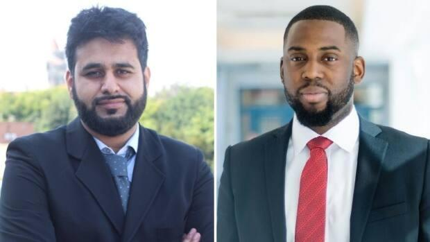 Bilal Habib (left) and Nonso Molokwu are part of the student-led initiative to start a scholarship for Black students after seeing a lack of diversity in their own program.  (Submitted by Bilal Habib - image credit)