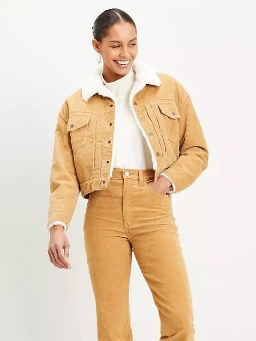 """<br><br><strong>Levi's</strong> Heritage Corduroy Trucker Jacket, $, available at <a href=""""https://www.levi.com/GB/en_GB/shop-all/new-heritage-cord-trucker/p/227880000"""" rel=""""nofollow noopener"""" target=""""_blank"""" data-ylk=""""slk:Levi's"""" class=""""link rapid-noclick-resp"""">Levi's</a>"""