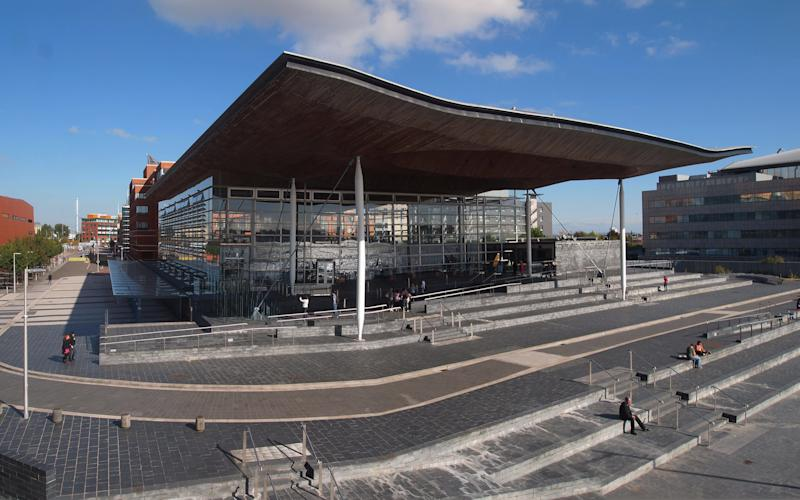 The Senedd building in Cardiff Bay