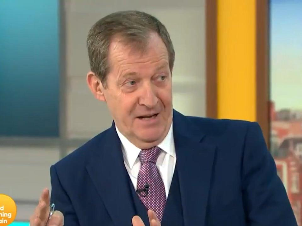 Alastair Campbell appearing on Good Morning Britain (ITV)