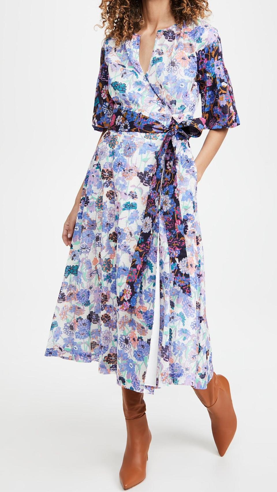 <p>The classic silhouette of this <span>Tanya Taylor Frida Dress</span> ($565) is so flattering. Plus, it's perfect for someone who loves fun prints.</p>