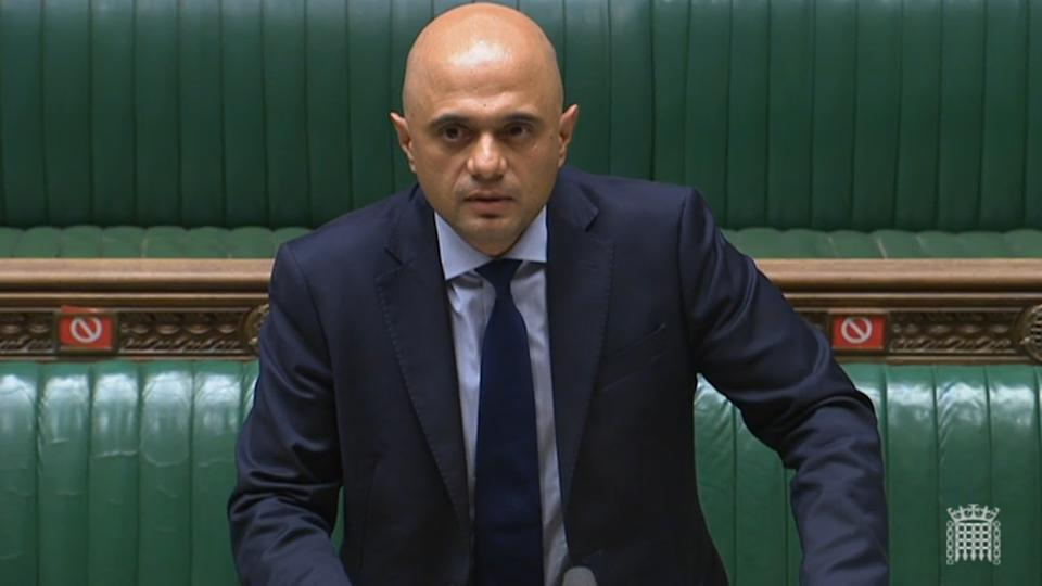 Health Secretary Sajid Javid updates MPs in the Commons on the governments coronavirus plans, in the House of Commons, London. Picture date: Monday July 5, 2021. (Photo by PA Images via Getty Images)