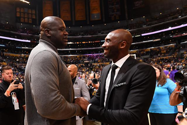 "Shaquille O'Neal believes <a class=""link rapid-noclick-resp"" href=""/ncaaf/players/285862/"" data-ylk=""slk:Kobe Bryant"">Kobe Bryant</a> was a ""bad motherf—–"" who belongs in the GOAT conversation. (Getty)"