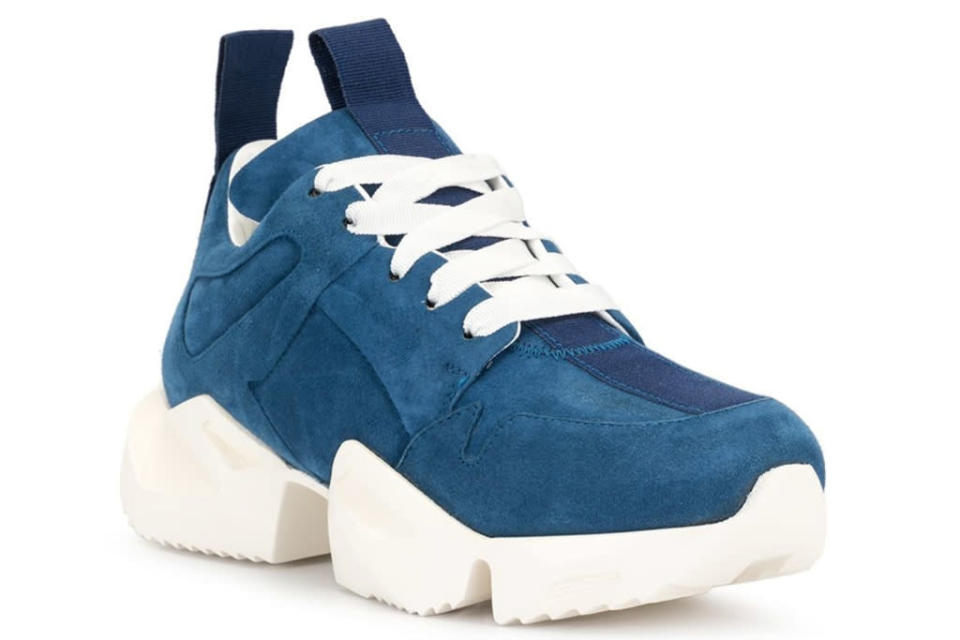 unravel project, blue, chunky sneakers