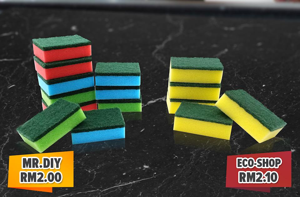 Stock up on sponges from as low as RM2 at MR.DIY.