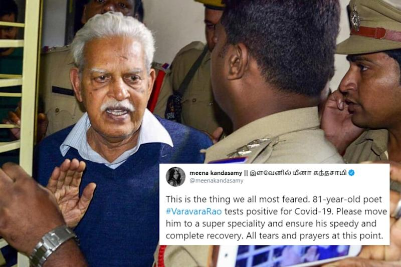'What We Feared': Poet Varavara Rao Tests Covid-19 Positive Days After Bail Plea, Twitter Outraged