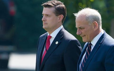 White House Chief of Staff John Kelly (R) and White House Staff Secretary Rob Porter  - Credit: AFP
