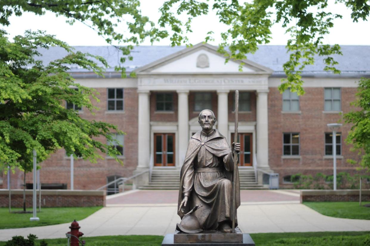St. Ignatius of Loyola — depicted in this statue at Georgetown Prep — founded the Jesuit order in the 1530s and was among the most influential figures of the Catholic Reformation. (Photo: Facebook)