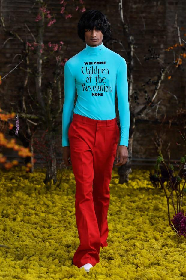 <p>A look from Raf Simons Spring 2021 collection. Photo: Courtesy of Raf Simons</p>