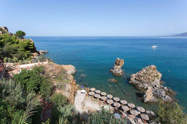PHOTO: Beach at Hotel Kalura in Cefalu. (Oyster.com)