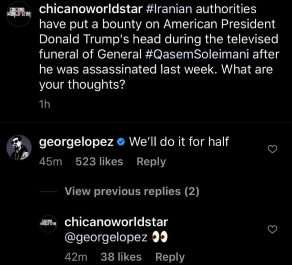 george lopez joke trump assassination secret service Secret Service to visit George Lopez following Trump assassination joke