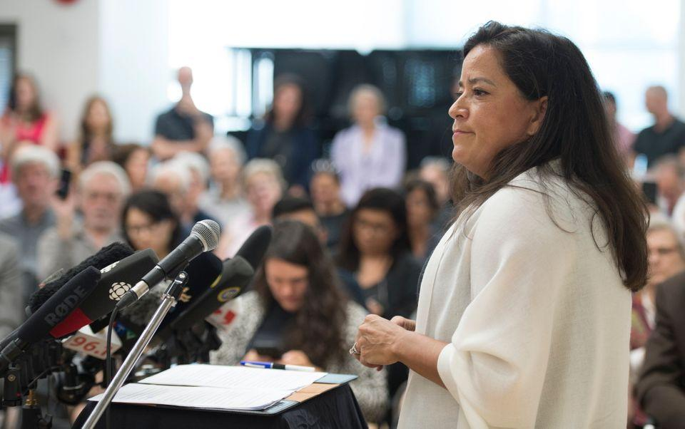 Jody Wilson-Raybould announces that she will run as an independent in the fall election during a news conference in Vancouver on May 27, 2019.