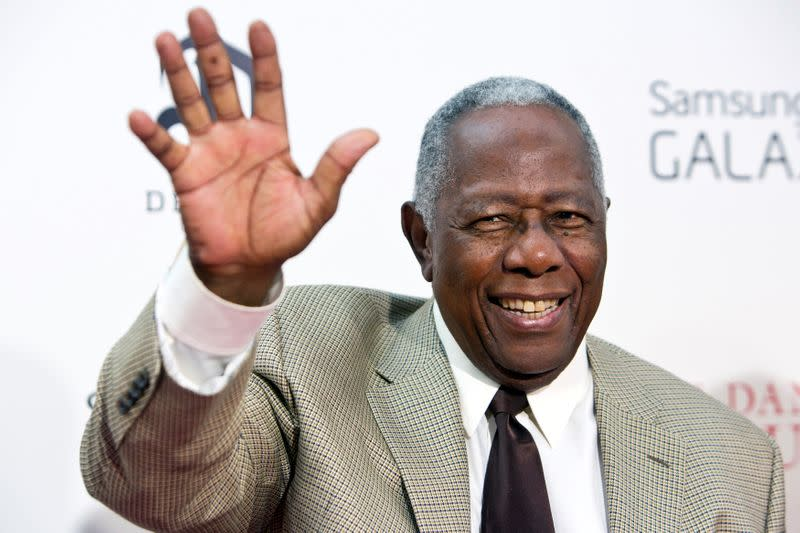 """FILE PHOTO: Hank Aaron attends Lee Daniels' """"The Butler"""" New York Premiere at the Ziegfeld Theater in New York"""