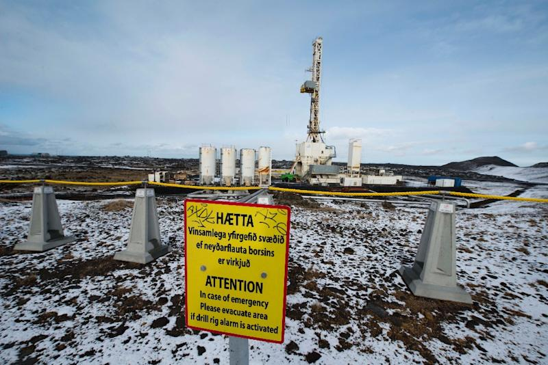 Iceland says its geothermal power station at Reykjanes can produce clean energy independent from fossil fuels by generating electricity from the heat stored inside the earth (AFP Photo/Halldor KOLBEINS)