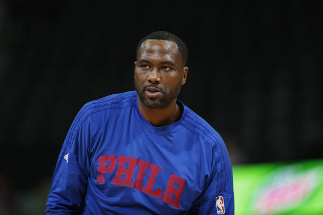 Elton Brand played for the 76ers in 2015-16. (AP)