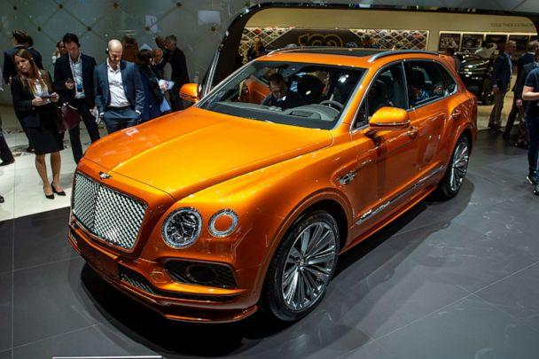 PHOTO: A Bentley Bentayga is displayed during the second press day at the 89th Geneva International Motor Show on March 6, 2019, in Geneva, Switzerland. (Robert Hradil/Getty Images)