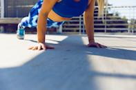 """<p>It's easy to get fixated on the scale, but finding another way to assess your progress can improve your relationship with your body. <a href=""""https://www.popsugar.com/fitness/how-working-out-at-home-changed-my-fitness-goals-47494020"""" class=""""link rapid-noclick-resp"""" rel=""""nofollow noopener"""" target=""""_blank"""" data-ylk=""""slk:Focus on getting strong instead of skinny"""">Focus on getting strong instead of skinny</a>, and see how it affects the way you feel about yourself and your workouts. </p>"""