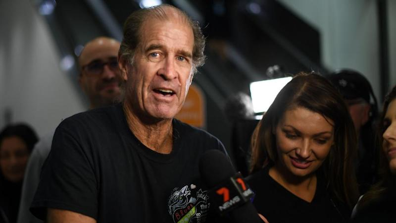 Australian documentary film-maker James Ricketson arrives in Sydney in September 2018 after being freed from a Cambodian jail.