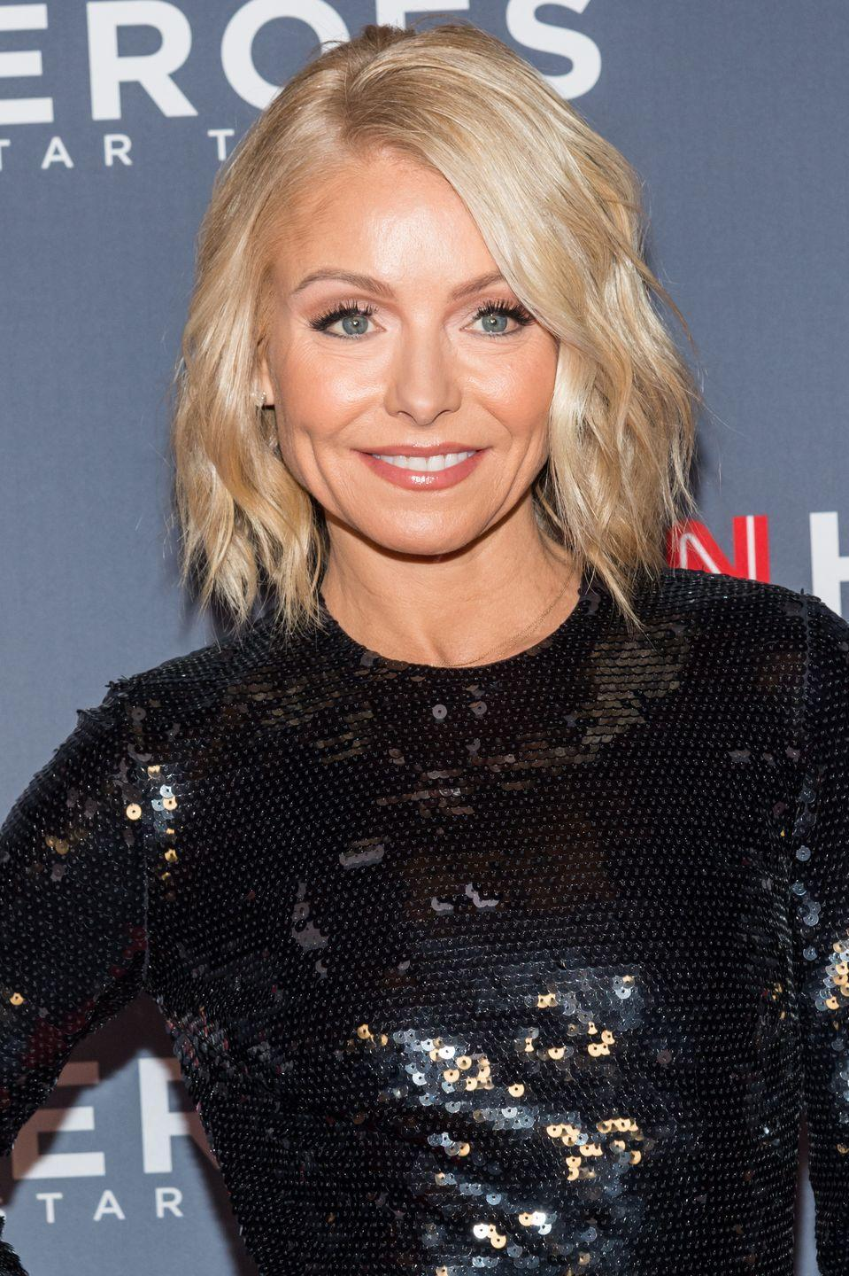 """<p>""""I got Botox because people kept saying 'Are you okay?' and I'm like, 'I'm fine, why?'"""" Ripa <a href=""""https://www.usmagazine.com/stylish/news/kelly-ripas-bad-botox-left-her-unable-to-smile-w449577/"""" rel=""""nofollow noopener"""" target=""""_blank"""" data-ylk=""""slk:told"""" class=""""link rapid-noclick-resp"""">told</a> Michael Strahan, her <em>Live</em> co-host in 2015. 'You look like you're angry.' I was like, 'Then it's time to get Botox.'""""</p>"""