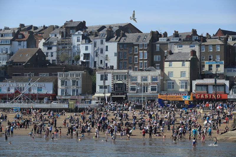 Crowds descended on the coast around the UK (PA)