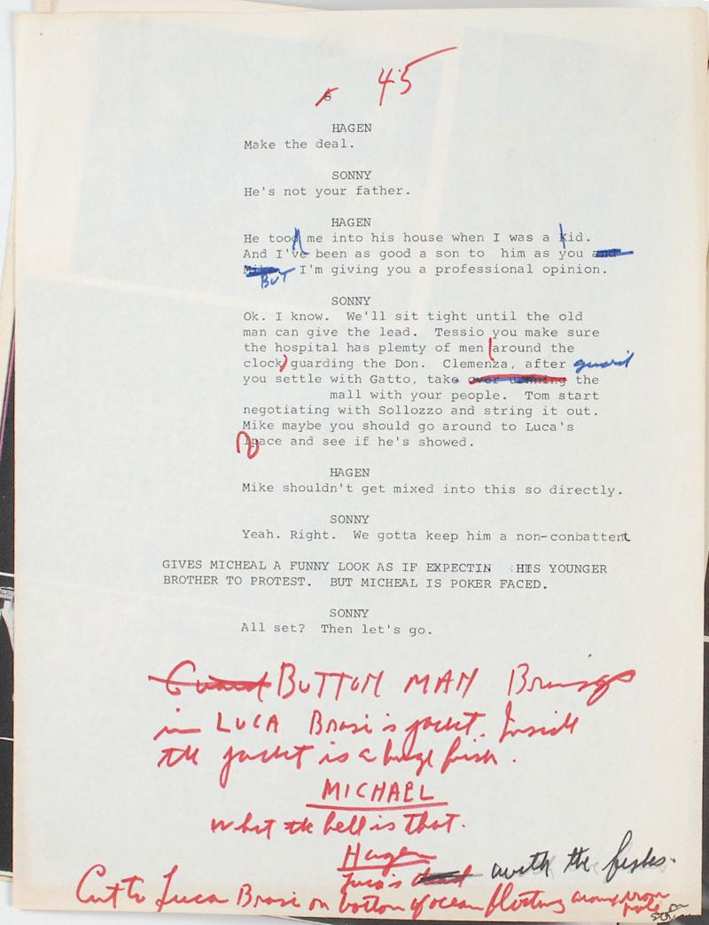 An Offer He CanT Refuse Rare Look At Early Godfather Drafts