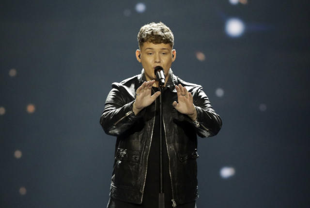 Michael Rice came last in Eurovision 2019 (AP)