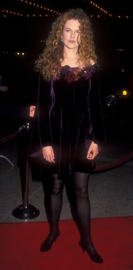 On the red carpet at the Los Angeles premiere of My Life (1993)