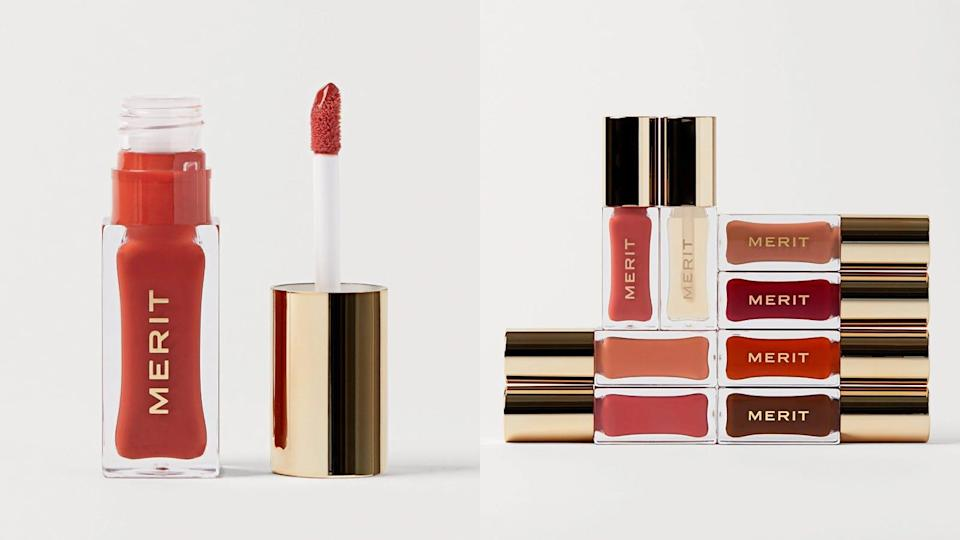 Play up your pout in fall-like colors with Merit's lip oils.