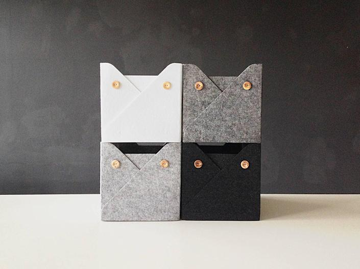 """<br><br><strong>WoollyClouds</strong> Set of 4 Felt Storage Boxes, $, available at <a href=""""https://go.skimresources.com/?id=30283X879131&url=https%3A%2F%2Ffave.co%2F2VQYMdV"""" rel=""""nofollow noopener"""" target=""""_blank"""" data-ylk=""""slk:Etsy"""" class=""""link rapid-noclick-resp"""">Etsy</a>"""