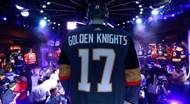 The Vegas Golden Knights unveiled their look on the eve of the Expansion Draft. (Photo by Jeff Vinnick/NHLI via Getty Images)