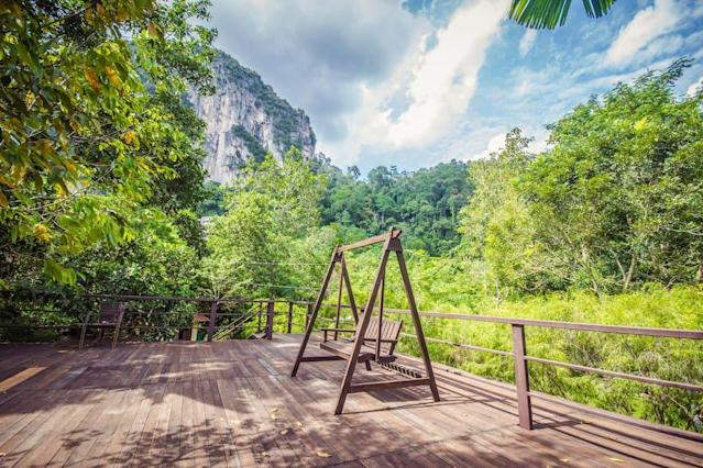 <p>This luxurious retreat overlooks Bukit Takun and a nearby golf course, and surrounds you with views of Kanching Rainforest Reserve. (Airbnb) </p>