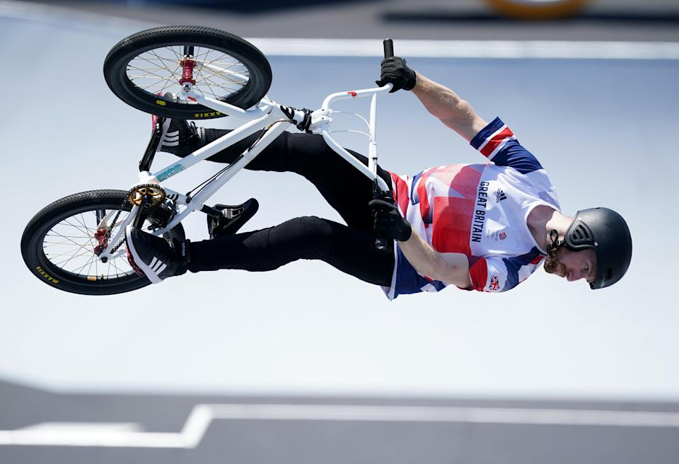 Declan Brooks claimed Britain's fourth BMX medal with freestyle bronze (Mike Egerton/PA) (PA Wire)