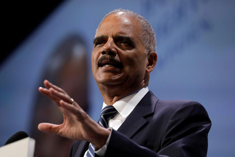 Former U.S. Attorney General Eric Holder took a more hard-line approach to Republican attacks. (Yuri Gripas / Reuters)