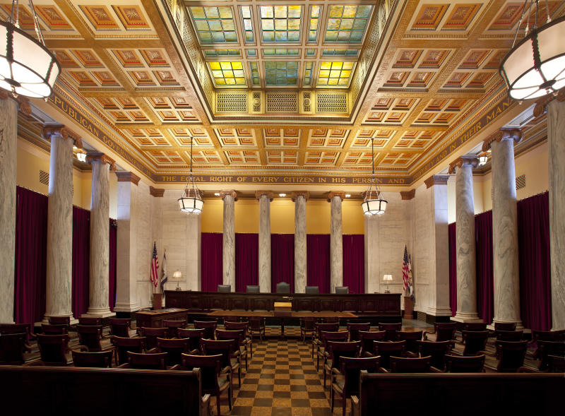 All four sitting justices of West Virginia's Supreme Court of Appeals are facing possible impeachment over allegations that they misused public money. (Thorney Lieberman via Getty Images)