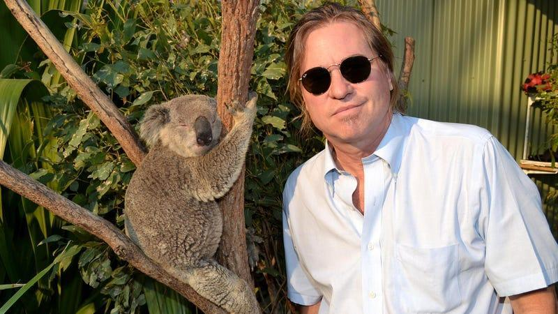 Val Kilmer and a koala in 2012 (we hope this footage is in the doc)