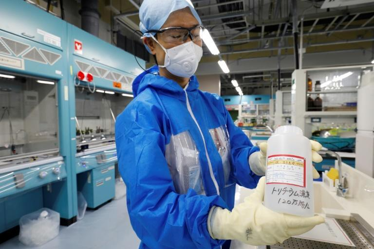 Water from the Fukushima plant has been filtered to reduce radioactivity