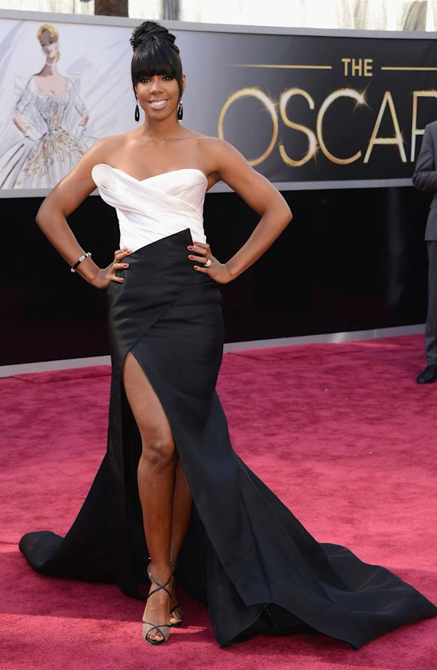Singer Kelly Rowland attends the Oscars at Hollywood & Highland Center on February 24, 2013 in Hollywood, California. (Photo by Jason Merritt/Getty Images)