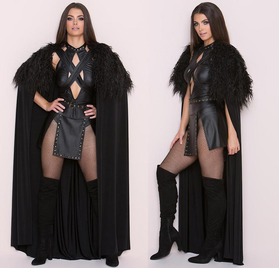 """<p>It may be winter, but things are heating up for this version of the King of the North. With its cut-out bodice and a panel strip for a skirt, <a rel=""""nofollow noopener"""" href=""""http://www.yandy.com/Yandy-Sexy-Northern-Queen-Costume.php?source=commissionjunction&utm_source=CJ&utm_medium=affiliate&utm_campaign=Skimlinks&utm_content=Yandy+Ravewear&AID=12570050&SID=74679X1524629X8cc0429662a8e23d6800062fe7d8f1b1"""" target=""""_blank"""" data-ylk=""""slk:this costume"""" class=""""link rapid-noclick-resp"""">this costume</a> truly knows nothing about Jon Snow.<br>(Photo: Yandy.com) </p>"""