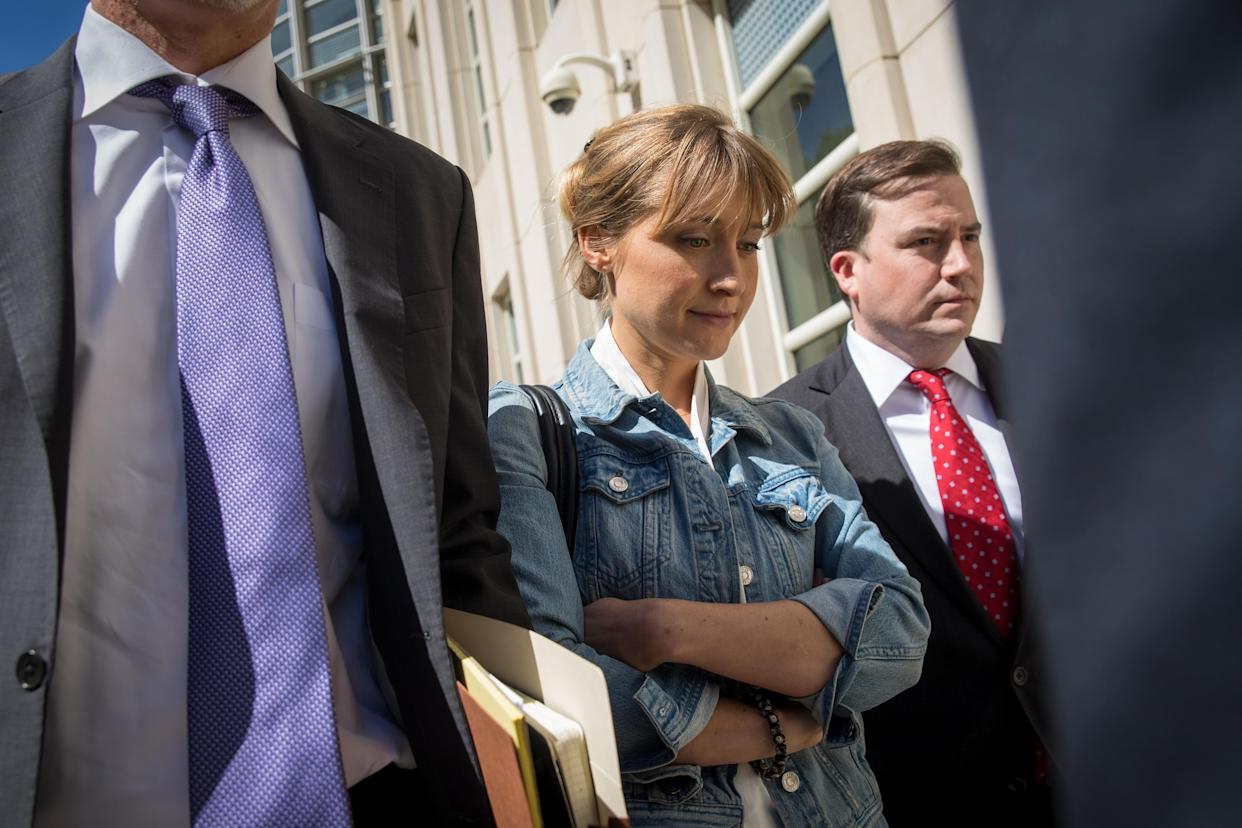 Actress Allison Mack leaves the U.S. District Court for the Eastern District of New York following a status conference, June 12, 2018. (Photo: Drew Angerer/Getty Images)