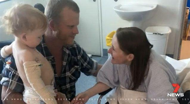 Mum Alice donated her kidney. Picture: 7 News
