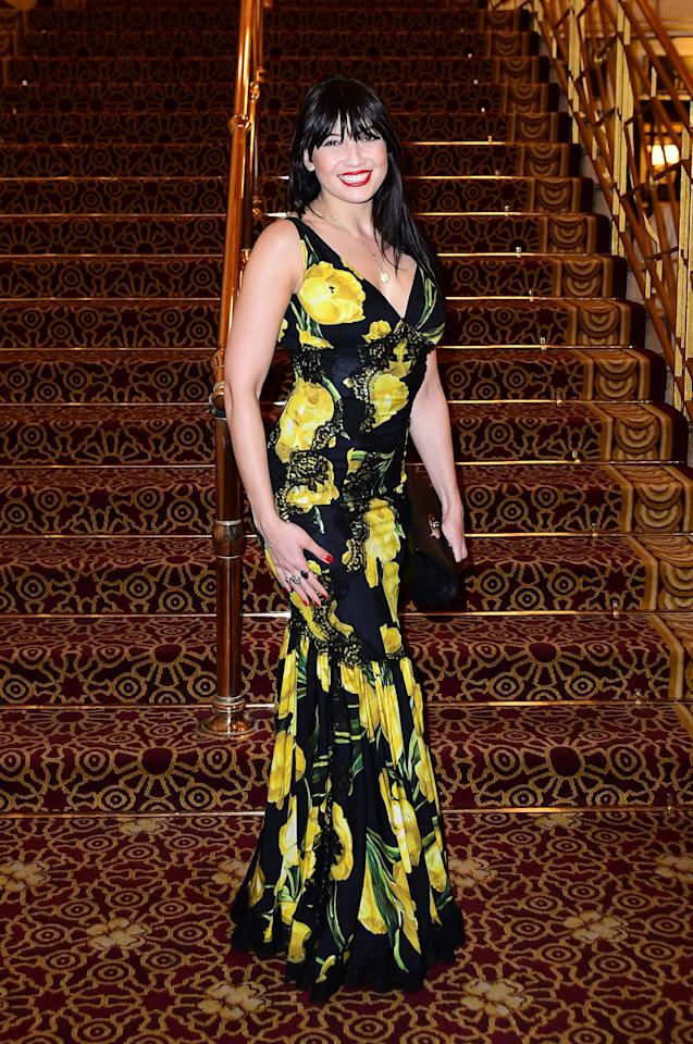 <p>Lowe's fish tail skirted frock flowed and flattered at the An American In Paris Gala in London [Photo: PA] </p>
