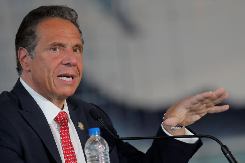 New York's Cuomo defends Columbus statues for symbolism to Italian Americans