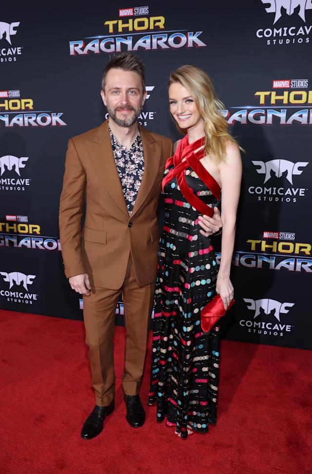 <p>This duo didn't shy away from mixing prints for the big night. (Photo: Getty Images) </p>