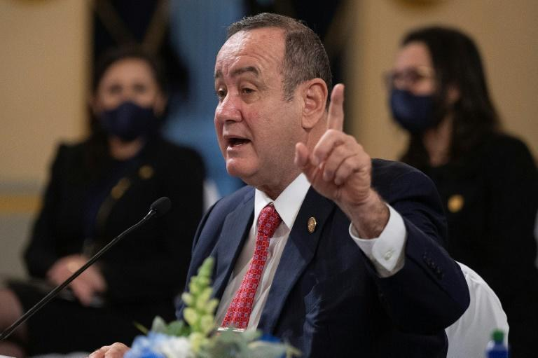 Guatemalan President Alejandro Giammattei said his country wanted to work with the United States to improve conditions so that young people 'can find here the hope they do not have today'