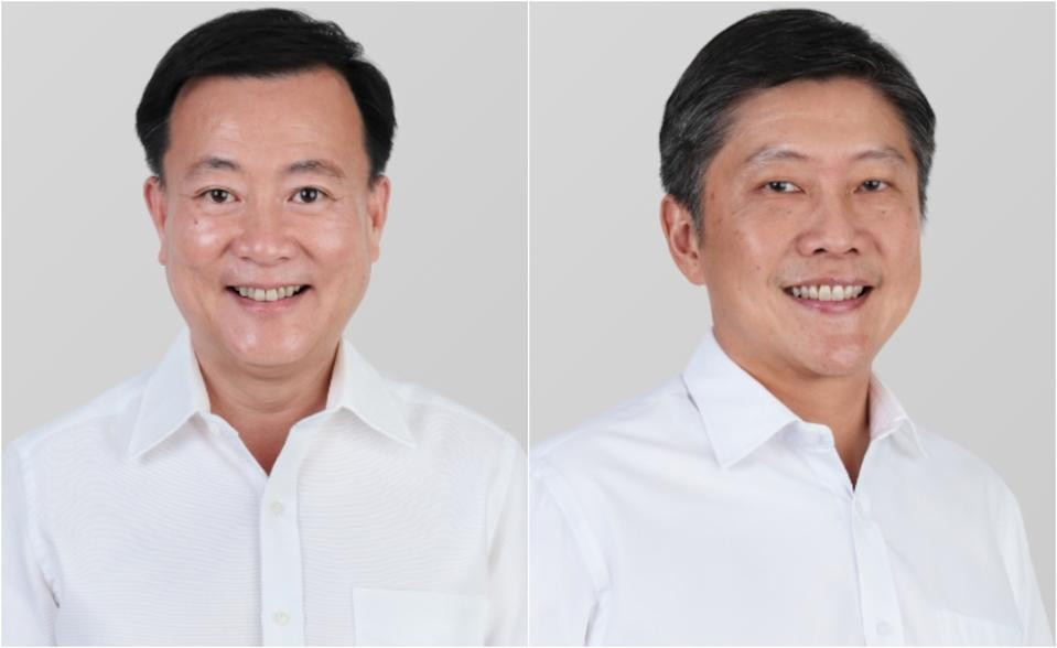 Victor Lye (left) and Ng Chee Meng. (PHOTOS: PAP website)