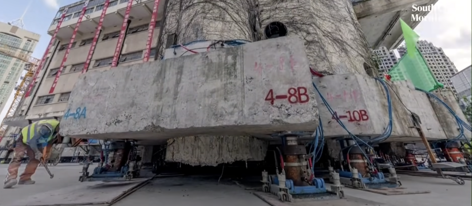 Watch: Huge building 'walks' to a new location